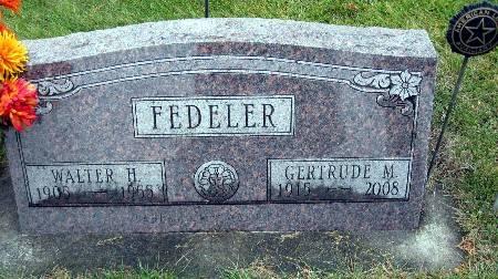 FEDELER, GERTRUDE M - Bremer County, Iowa   GERTRUDE M FEDELER