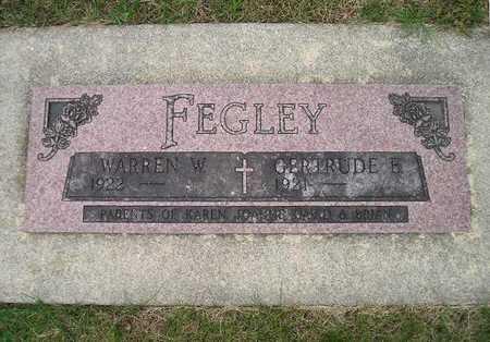 FEGLEY, WARREN W - Bremer County, Iowa | WARREN W FEGLEY