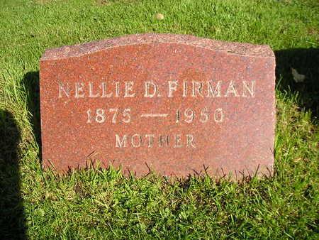 FIRMAN, NELLIE D - Bremer County, Iowa | NELLIE D FIRMAN