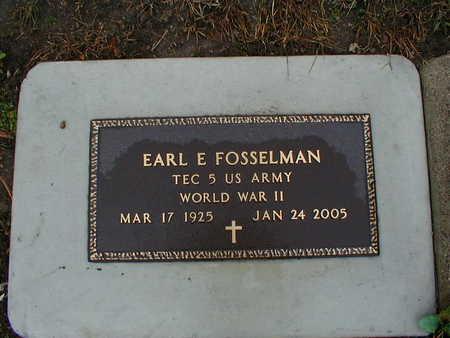 FOSSELMAN, EARL E - Bremer County, Iowa | EARL E FOSSELMAN