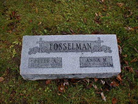 FOSSELMAN, ANNA M - Bremer County, Iowa | ANNA M FOSSELMAN