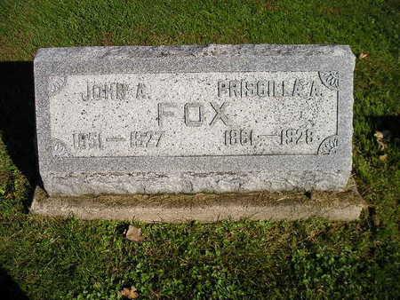 FOX, PRISCILLA A - Bremer County, Iowa | PRISCILLA A FOX