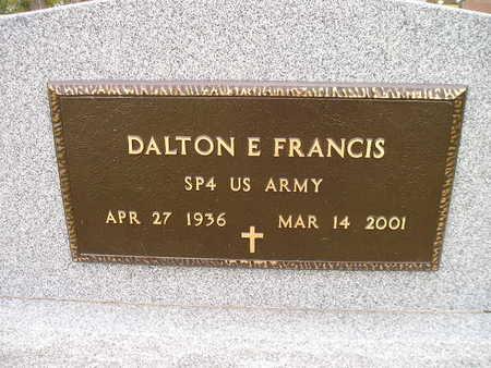 FRANCIS, DALTON E - Bremer County, Iowa | DALTON E FRANCIS