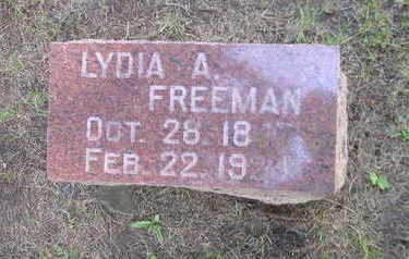 FREEMAN, LYDIA A - Bremer County, Iowa | LYDIA A FREEMAN