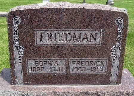 FRIEDMAN, FREDRICK - Bremer County, Iowa | FREDRICK FRIEDMAN