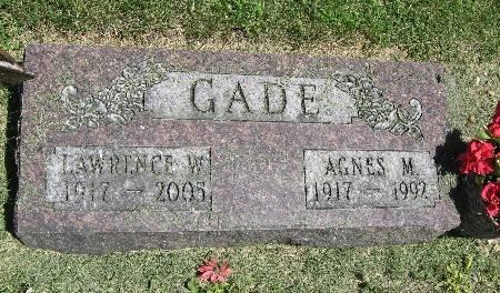 GADE, AGNES M. - Bremer County, Iowa | AGNES M. GADE