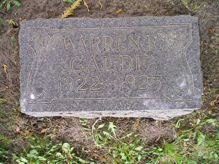 GAEDE, WARREN R - Bremer County, Iowa | WARREN R GAEDE