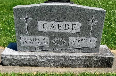 GAEDE, WALTER H - Bremer County, Iowa | WALTER H GAEDE