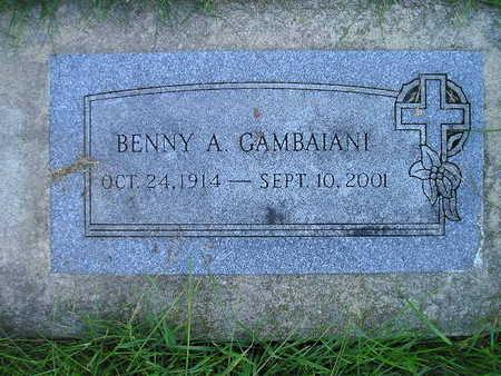 GAMBAIANI, BENNY A - Bremer County, Iowa   BENNY A GAMBAIANI
