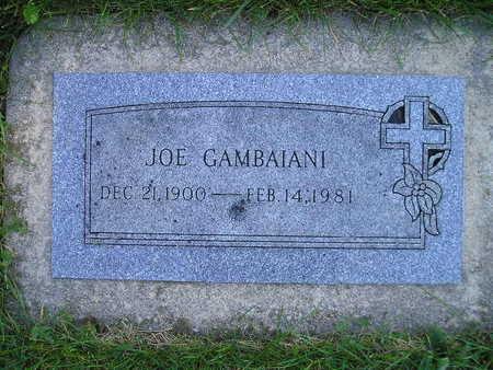 GAMBAIANI, JOE - Bremer County, Iowa   JOE GAMBAIANI