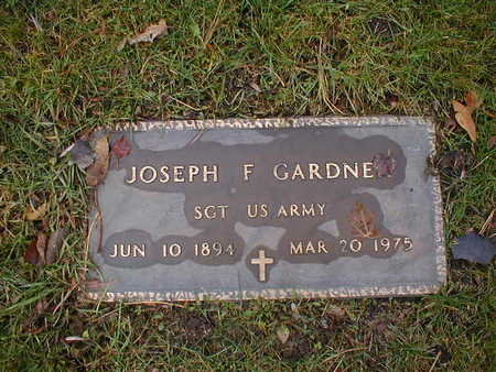 GARDNER, JOSEPH F - Bremer County, Iowa | JOSEPH F GARDNER