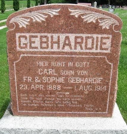 GEBHARDIE, CARL - Bremer County, Iowa   CARL GEBHARDIE