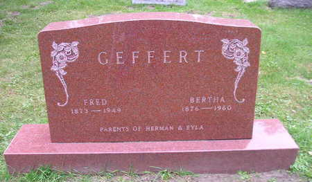 GEFFERT, BERTHA - Bremer County, Iowa | BERTHA GEFFERT