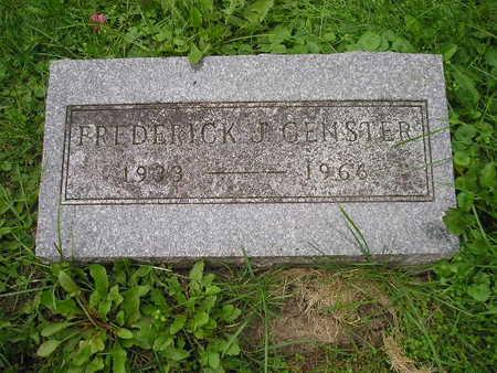 GENSTER, FREDERICK J - Bremer County, Iowa | FREDERICK J GENSTER