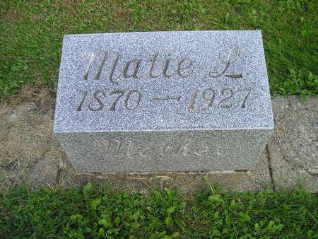 GETTS, MATIE L - Bremer County, Iowa   MATIE L GETTS