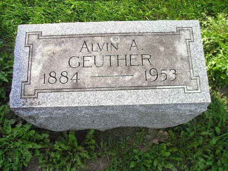 GEUTHER, ALVIN A - Bremer County, Iowa   ALVIN A GEUTHER