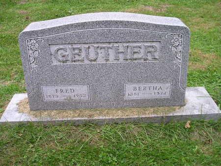 GEUTHER, BERTHA - Bremer County, Iowa | BERTHA GEUTHER