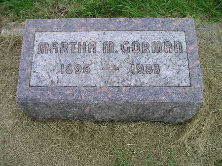 GORMAN, MARTHA M - Bremer County, Iowa | MARTHA M GORMAN
