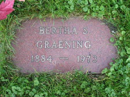 GRAENING, BERTHA S - Bremer County, Iowa | BERTHA S GRAENING