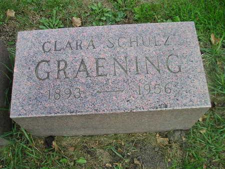 SCHULTZ GRAENING, CLARA - Bremer County, Iowa | CLARA SCHULTZ GRAENING