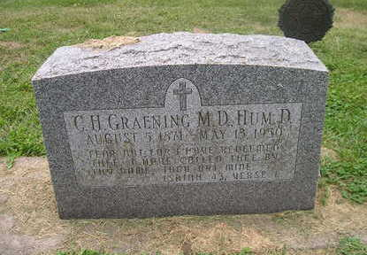 GRAENING   ()D, C .H. - Bremer County, Iowa | C .H. GRAENING   ()D