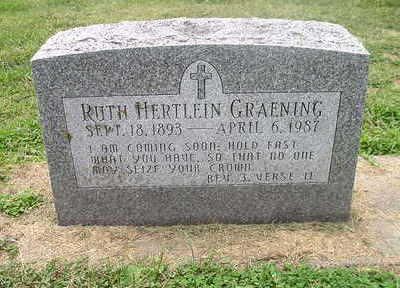 HERTLEIN GRAENING, RUTH - Bremer County, Iowa | RUTH HERTLEIN GRAENING