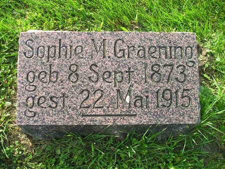 GRAENING, SOPHIE M - Bremer County, Iowa | SOPHIE M GRAENING