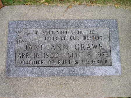 GRAWE, JANE ANN - Bremer County, Iowa | JANE ANN GRAWE