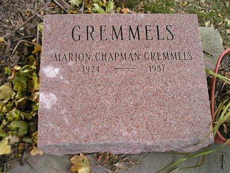 CHAPMAN GREMMELS, MARION - Bremer County, Iowa   MARION CHAPMAN GREMMELS