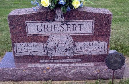 GRIESERT, ROBERT - Bremer County, Iowa   ROBERT GRIESERT
