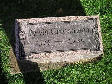 GROSSMANN, SYLVIA - Bremer County, Iowa   SYLVIA GROSSMANN