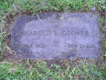 GROVER, HAROLD E - Bremer County, Iowa   HAROLD E GROVER