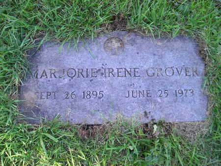 GROVER, MARJORIE IRENE - Bremer County, Iowa | MARJORIE IRENE GROVER