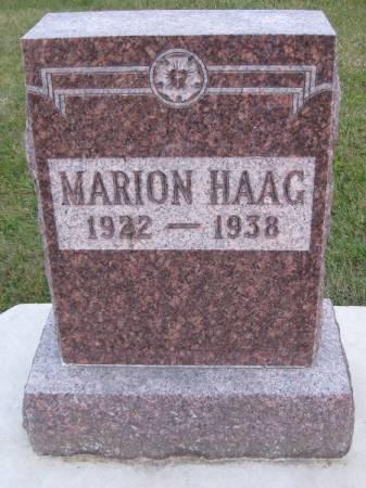 HAAG, MARION - Bremer County, Iowa   MARION HAAG