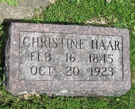HAAR, CHRISTINE - Bremer County, Iowa | CHRISTINE HAAR