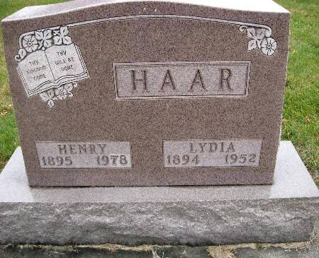 HAAR, LYDIA - Bremer County, Iowa | LYDIA HAAR