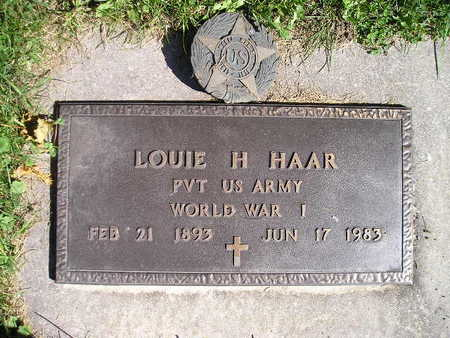 HAAR, LOUIE H - Bremer County, Iowa | LOUIE H HAAR