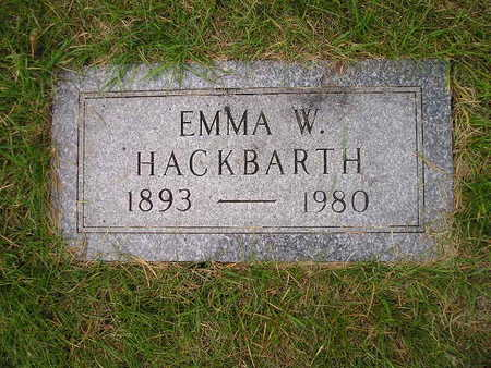 HACKBARTH, EMMA W - Bremer County, Iowa | EMMA W HACKBARTH