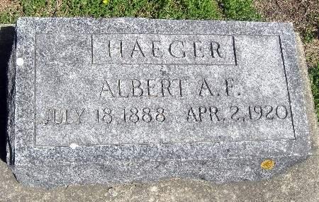 HAEGER, ALBERT A F - Bremer County, Iowa   ALBERT A F HAEGER