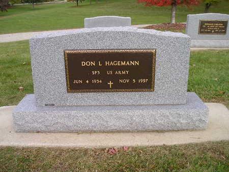 HAGEMANN, DON L - Bremer County, Iowa   DON L HAGEMANN
