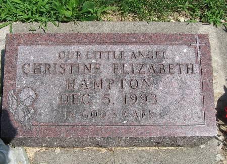 HAMPTON, CHRISTINE ELIZABETH - Bremer County, Iowa   CHRISTINE ELIZABETH HAMPTON