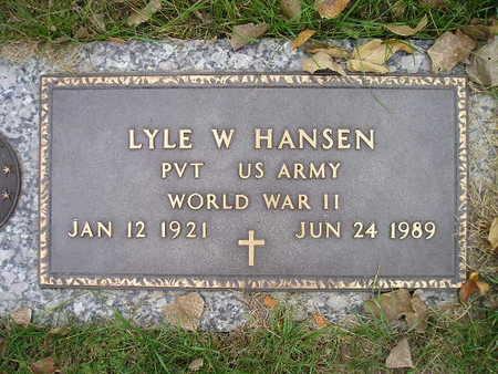 HANSEN, LYLE W - Bremer County, Iowa | LYLE W HANSEN