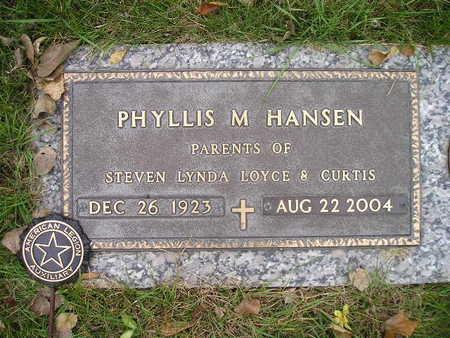 HANSEN, PHYLLIS M - Bremer County, Iowa | PHYLLIS M HANSEN