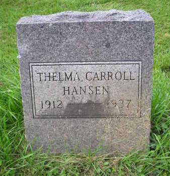 HANSEN, THELMA CARROLL - Bremer County, Iowa | THELMA CARROLL HANSEN