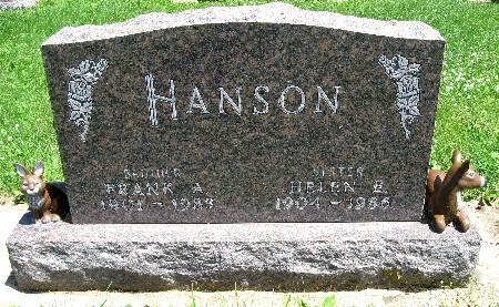 HANSON, HELEN E - Bremer County, Iowa | HELEN E HANSON