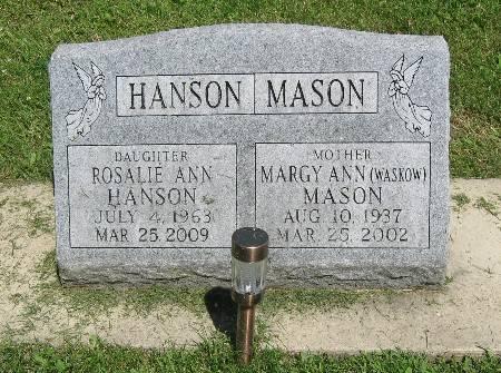 WASLOW MASON, MARGY ANN - Bremer County, Iowa   MARGY ANN WASLOW MASON
