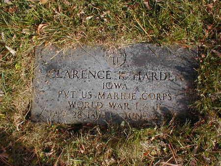 HARDEN, CLARENCE K - Bremer County, Iowa | CLARENCE K HARDEN