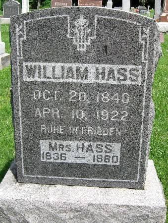 HASS, MRS. WILLIAM - Bremer County, Iowa   MRS. WILLIAM HASS