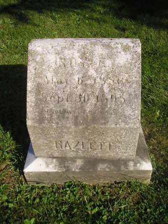 HAZLETT, ROY - Bremer County, Iowa   ROY HAZLETT