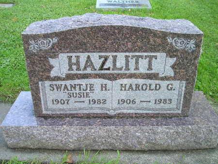 HAZLITT, HAROLD G - Bremer County, Iowa | HAROLD G HAZLITT
